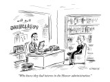 """Who knew they had interns in the Hoover administration."" - New Yorker Cartoon Premium Giclee Print by David Sipress"
