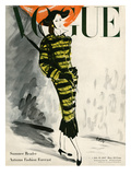 Vogue Cover - July 1947 Regular Giclee Print by René Bouét-Willaumez