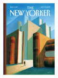 In the World of Books - The New Yorker Cover, October 19, 2009 Premium Giclee Print by Eric Drooker