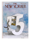 The New Yorker Cover - July 18, 1970 Premium Giclee Print by Saul Steinberg