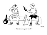 """Care for some sports wine?"" - New Yorker Cartoon Premium Giclee Print by Alex Gregory"