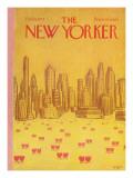 The New Yorker Cover - February 18, 1974 Regular Giclee Print by Robert Weber
