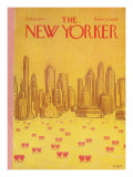 The New Yorker Cover - February 18, 1974 Premium Giclee Print by Robert Weber