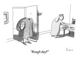 """Rough day?"" - New Yorker Cartoon Premium Giclee Print by Zachary Kanin"