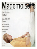 Mademoiselle Cover - June 1953 Regular Giclee Print by Herman Landshoff