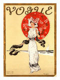 Vogue Cover - August 1910 Regular Giclee Print by Helen Dryden