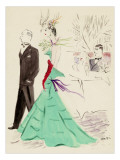 Vogue - March 1936 Premium Giclee Print by Marcel Vertes