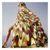 Vogue - January 1965 - Pucci Cover-up Premium Photographic Print by Henry Clarke