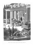 """Mrs. Choate's just fine, thank you. How's Mrs. Delano?"" - New Yorker Cartoon Premium Giclee Print by Peter Arno"