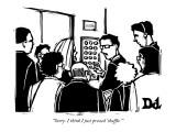 """Sorry. I think I just pressed 'shuffle.' "" - New Yorker Cartoon Premium Giclee Print by Drew Dernavich"
