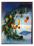 Gourmet Cover - December 1952 Regular Giclee Print by Henry Stahlhut