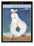 Vogue Cover - August 1916 Premium Giclee Print by George Wolfe Plank