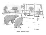 """Damn! The feeder's empty."" - New Yorker Cartoon Premium Giclee Print by Danny Shanahan"