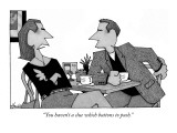 """You haven't a clue which buttons to push."" - New Yorker Cartoon Premium Giclee Print by William Haefeli"