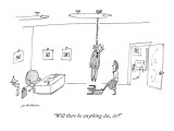 """""""Will there be anything else, sir?"""" - New Yorker Cartoon Premium Giclee Print by Michael Maslin"""