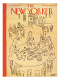 The New Yorker Cover - January 13, 1945 Premium Giclee Print by Saul Steinberg