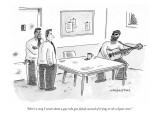 """Here's a song I wrote about a guy who gets falsely accused of trying to r…"" - New Yorker Cartoon Premium Giclee Print by Mick Stevens"