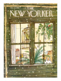 The New Yorker Cover - January 9, 1978 Premium Giclee Print by George Booth