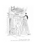 """I guess you know what you want, but it seems awful silly to me."" - New Yorker Cartoon Premium Giclee Print by  Alain"