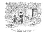 """You're moving into a place where all the parents live well and all the ki…"" - New Yorker Cartoon Premium Giclee Print by Edward Koren"