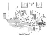 """Mind if I journal?"" - New Yorker Cartoon Premium Giclee Print by Danny Shanahan"