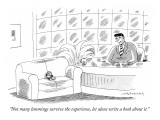 """Not many lemmings survive the experience, let alone write a book about it."" - New Yorker Cartoon Premium Giclee Print by Mick Stevens"