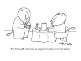 """For the health-conscious, we suggest you chase your own zebra."" - New Yorker Cartoon Premium Giclee Print by Charles Barsotti"