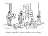 """Hold everything! The P.R. department just sent over this chart."" - New Yorker Cartoon Premium Giclee Print by Mick Stevens"