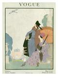 Vogue Cover - May 1918 Regular Giclee Print by Helen Dryden