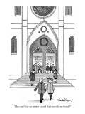 """How can I love my enemies when I don't even like my friends?"" - New Yorker Cartoon Premium Giclee Print by J.B. Handelsman"