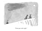 """""""I hate open-mike night."""" - New Yorker Cartoon Premium Giclee Print by Mick Stevens"""