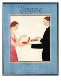 Vogue Cover - December 1923 Regular Giclee Print by André E. Marty