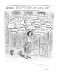 Person thinking about everything. - New Yorker Cartoon Premium Giclee Print by Roz Chast
