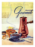 Gourmet Cover - February 1950 Premium Giclee Print by Henry Stahlhut