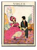 Vogue Cover - August 1918 Regular Giclee Print by Helen Dryden