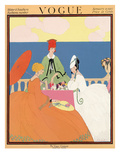 Vogue Cover - January 1917 Premium Giclee Print by Helen Dryden