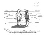 """""""I don't know whether to be mad that you had water this whole time or impr…"""" - New Yorker Cartoon Premium Giclee Print by Zachary Kanin"""