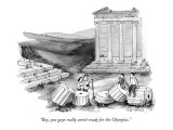 """Boy, you guys really aren't ready for the Olympics."" - New Yorker Cartoon Premium Giclee Print by Marshall Hopkins"