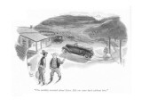 """I'm terribly worried about Steve. His car came back without him."" - New Yorker Cartoon Premium Giclee Print by Richard Decker"