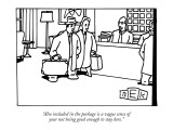 """Also included in the package is a vague sense of your not being good enou…"" - New Yorker Cartoon Premium Giclee Print by Bruce Eric Kaplan"