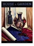 House & Garden Cover - August 1933 Premium Giclee Print by Edna Reindel