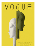 Vogue Cover - February 1929 Premium Giclee Print by Eduardo Garcia Benito
