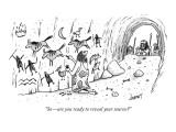 """So—are you ready to reveal your sources?"" - New Yorker Cartoon Premium Giclee Print by Tom Cheney"