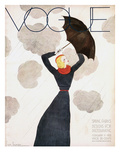 Vogue Cover - February 1933 Premium Giclee Print by Georges Lepape