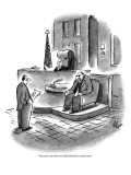 """""""Sometimes our borrowers find themselves underwater."""" - New Yorker Cartoon Premium Giclee Print by Frank Cotham"""