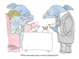 """I'll have the angler if you're sure he's perfectly fresh."" - New Yorker Cartoon Premium Giclee Print by Gahan Wilson"