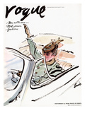 "Vogue Cover - November 1938 Premium Giclee Print by Carl ""Eric"" Erickson"