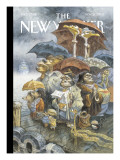 The New Yorker Cover - November 21, 2005 Premium Giclee Print by Peter de Sève