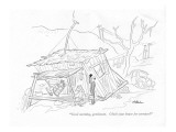 """Good morning, gentlemen. Check your house for termites?"" - New Yorker Cartoon Premium Giclee Print by  Alain"
