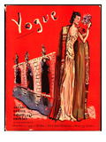 Vogue Cover - October 1937 Regular Giclee Print by Christian Berard